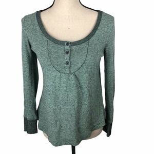 Urban Outfitters BDG Green Long Sleeve Henley S